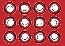 Escuro - teste padrão vermelho da repetição Imagens de Stock