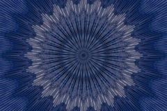 Escuro - teste padr?o de flor azul floral decor ilustração stock