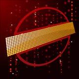 Escuro - texto elétrico das luzes vermelhas ilustração royalty free