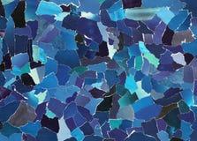 Escuro - textura azul do papel rasgado Fotos de Stock Royalty Free