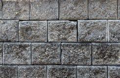 Escuro - textura cinzenta do tijolo fotos de stock