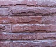 Escuro - textura ou fundo do tijolo vermelho Imagem de Stock