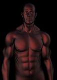escuro - torso masculino vermelho Fotos de Stock Royalty Free