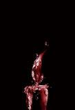 Escuro - vela vermelha do Natal Fotografia de Stock
