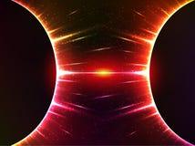 Escuro - vermelho que brilha a gravidade cósmica das esferas ilustração do vetor