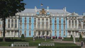 Escursione alle pareti di Catherine Palace Tsarskoye Selo, San Pietroburgo archivi video