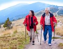 Escursione degli anziani 17 Fotografie Stock Libere da Diritti