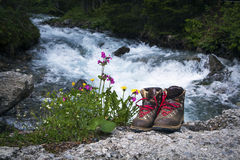 Escursione degli stivali Fotografie Stock