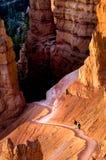 Escursione del canyon di Bryce Fotografia Stock