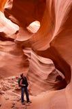 Escursione del canyon più basso dell'antilope Fotografie Stock