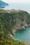 Escursione del Cinque Terre Fotografie Stock Libere da Diritti