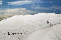Escursione del ghiacciaio Immagine Stock