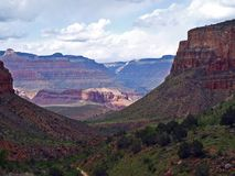 Escursione del Grand Canyon Fotografia Stock