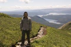 Escursione del Grone Morne Mountain Fotografia Stock