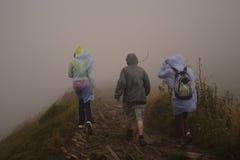 Escursione del maltempo Fotografie Stock