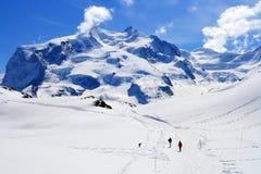 Escursione del modo a Matterhorn Immagine Stock