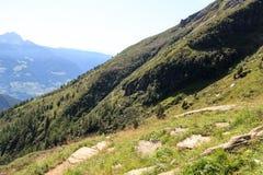Escursione del panorama delle alpi della montagna e del percorso nel gruppo di Texel, il Tirolo del sud Immagini Stock Libere da Diritti