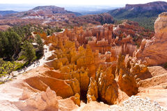 Escursione del percorso alla sosta nazionale del canyon di Bryce Fotografia Stock Libera da Diritti