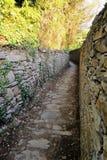 Escursione del percorso in Cinque Terre, l'Italia Fotografia Stock Libera da Diritti