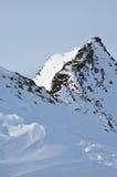 Escursione del percorso nelle alpi del Tirol Fotografia Stock