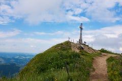 Escursione del percorso nelle alpi tedesche, allgau della Baviera Immagini Stock Libere da Diritti