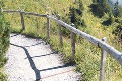 Escursione del percorso sopra lo Stanserhorn, la Svizzera Fotografie Stock Libere da Diritti