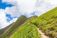 Escursione del percorso su Bernese Oberland Fotografia Stock Libera da Diritti
