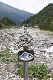 Escursione del percorso in valle di Koednitz, l'Austria Fotografia Stock Libera da Diritti