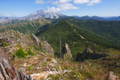 Escursione del picco del castello in Gifford Pinchot National Forest Immagine Stock