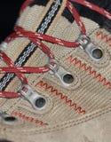 Escursione del primo piano degli stivali con i laccetti Immagini Stock