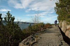 Escursione del sentiero per pedoni Fotografia Stock