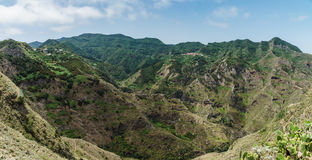 Escursione del viaggio nelle montagne di Anaga vicino a Taborno sull'isola di Tenerife Immagine Stock Libera da Diritti