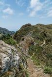 Escursione del viaggio nelle montagne di Anaga vicino a Taborno sull'isola di Tenerife Immagini Stock Libere da Diritti