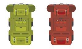 Escursione dell'icona dello zaino di viaggio Stile solido e piano di colore Illustrazione di vettore royalty illustrazione gratis