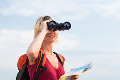 Escursione della donna fotografie stock libere da diritti