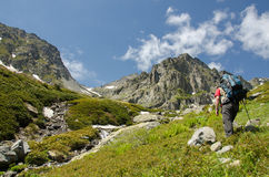 Escursione della montagna Immagine Stock Libera da Diritti