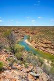 Escursione della traccia del ciclo della finestra delle nature, parco nazionale di kalbarri, Australia occidentale 2 immagine stock libera da diritti