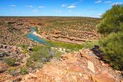 Escursione della traccia del ciclo della finestra delle nature, parco nazionale di kalbarri, Australia occidentale 3 immagine stock