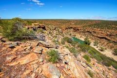 Escursione della traccia del ciclo della finestra delle nature, parco nazionale di kalbarri, Australia occidentale 6 fotografia stock