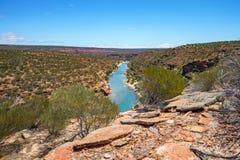 Escursione della traccia del ciclo della finestra delle nature, parco nazionale di kalbarri, Australia occidentale 10 fotografia stock libera da diritti