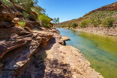 Escursione della traccia del ciclo della finestra delle nature, parco nazionale di kalbarri, Australia occidentale 12 fotografie stock