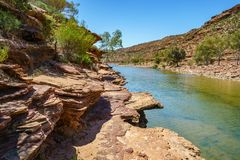 Escursione della traccia del ciclo della finestra delle nature, parco nazionale di kalbarri, Australia occidentale 11 immagini stock