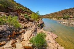 Escursione della traccia del ciclo della finestra delle nature, parco nazionale di kalbarri, Australia occidentale 27 immagine stock libera da diritti