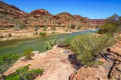 Escursione della traccia del ciclo della finestra delle nature, parco nazionale di kalbarri, Australia occidentale 30 fotografia stock