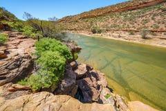 Escursione della traccia del ciclo della finestra delle nature, parco nazionale di kalbarri, Australia occidentale 31 fotografia stock libera da diritti