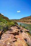 Escursione della traccia del ciclo della finestra delle nature, parco nazionale di kalbarri, Australia occidentale 33 fotografia stock libera da diritti
