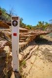 Escursione della traccia del ciclo della finestra delle nature, parco nazionale di kalbarri, Australia occidentale 34 immagine stock libera da diritti