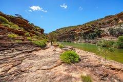 Escursione della traccia del ciclo della finestra delle nature, parco nazionale di kalbarri, Australia occidentale 36 immagine stock libera da diritti