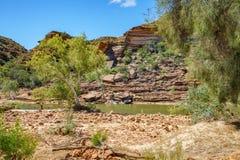 Escursione della traccia del ciclo della finestra delle nature, parco nazionale di kalbarri, Australia occidentale 39 fotografie stock