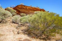 Escursione della traccia del ciclo della finestra delle nature, parco nazionale di kalbarri, Australia occidentale 4 fotografie stock